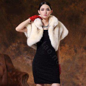 Seduction luxury stripe Fur Vest Jacket